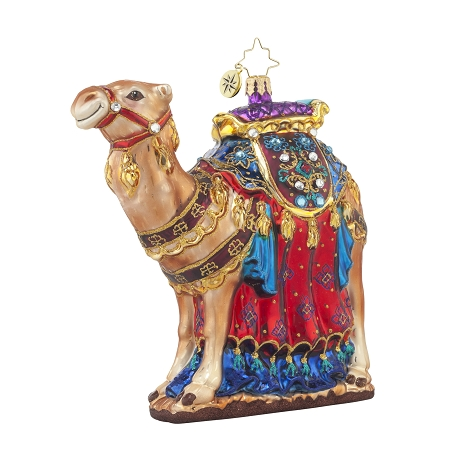 RADKO 1017681 FROM THE FAR EAST - JEWELED CAMEL ORNAMENT - NEW 2015 (15-7)