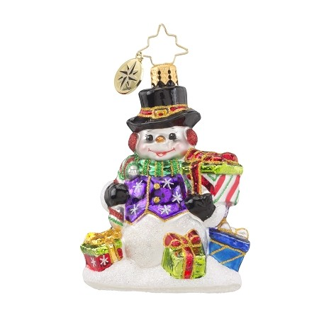 RADKO 1018161 SNOW DRIFT GIFTS GEM - SNOWMAN WITH GIFTS - NEW 2016 (24)