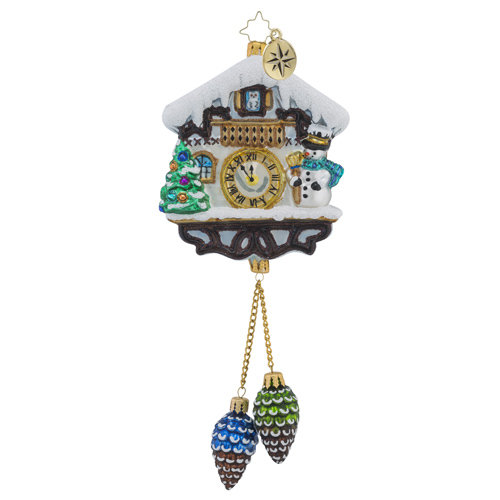 RADKO 1018182 ALPINE CHIME TIME - COO COO CLOCK ORNAMENT - NEW 2016 (16 - 5)