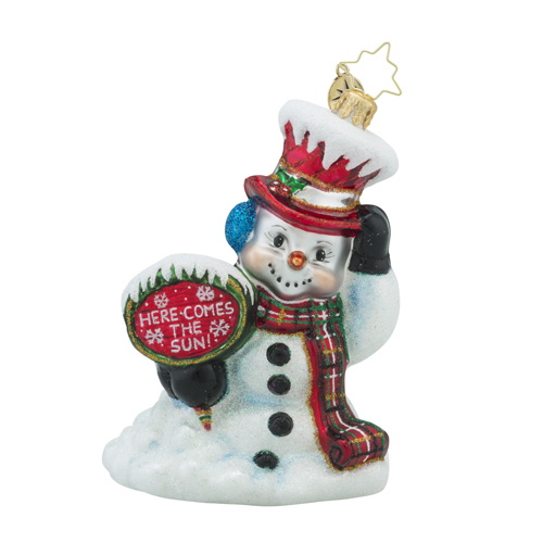 RADKO 1018232 OH NO HERE I GO! - MELTING SNOWMAN ORNAMENT - NEW 2016 (16 - 6)