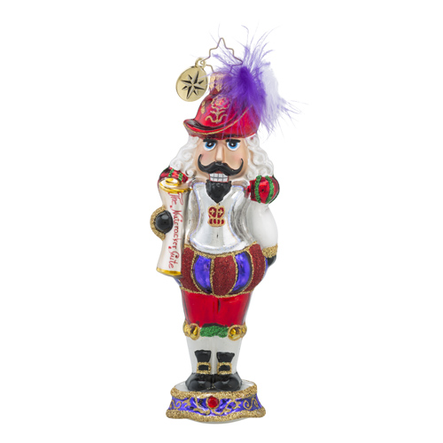 RADKO 1018243 MARQUEE DE NUTLEY - FRENCH NUTCRACKER WITH FEATHERED HAT - NEW 2016 (16 - 6)