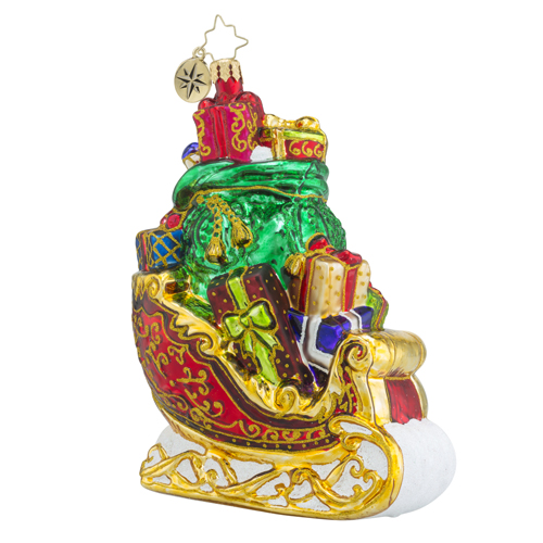 RADKO 1018248 GORGEOUS GIFTS FOR ALL - SLEIGH FULL OF PRESENTS ORNAMENT - NEW 2016 (16 - 7)