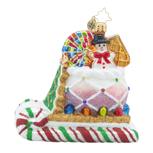 RADKO 1018282 SUGAR RUSH - CANDY SLEIGH ORNAMENT - NEW 2016 (16 - 8)
