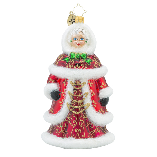 RADKO 1018286 THE PRETTIEST SIGHT TO SEE - MRS CLAUS ORNAMENT - NEW 2016 (16 - 8)
