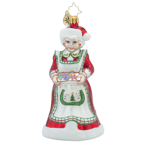 RADKO 1018314 HOME-MADE HOLIDAY - MRS CLAUS BAKING COOKIES ORNAMENT - NEW 2016 (16 - 9)