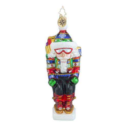 RADKO 1018329 ON THE SLOPES - SNOW SKIING NUTCRACKER ORNAMENT - NEW 2016 (16 - 9)
