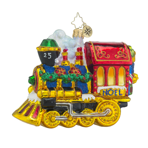 RADKO 1018332 ALL ABOARD! - TRAIN - LOCOMOTIVE ORNAMENT - NEW 2016 (16 - 9)
