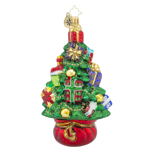 RADKO 1018333 TOPIARY TREASURE - TREE FULL OF GIFTS ORNAMENT - NEW 2016 (16 - 9)