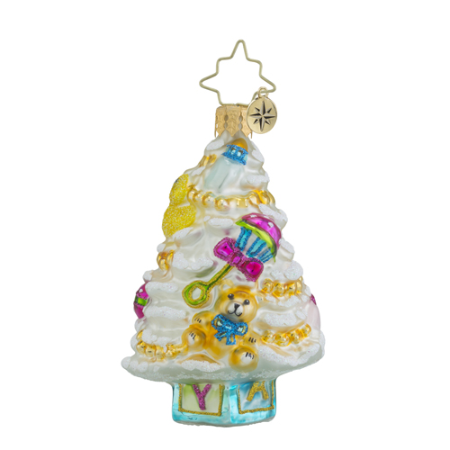 RADKO 1018349 NEW BORN TREE LITTLE GEM - BABY TREE ORNAMENT - NEW 2016 (24)