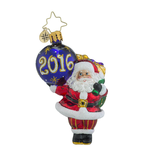 RADKO 1018350 MY FAVORITE YEAR LITTLE GEM - DATED 2016 - SANTA HOLDING ORNAMENT - NEW 2016 (24)