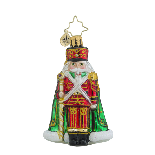 RADKO 1018351 MAJOR GENERAL CRACKER LITTLE GEM - NUTCRACKER WITH STAFF ORNAMENT - NEW 2016 (24)
