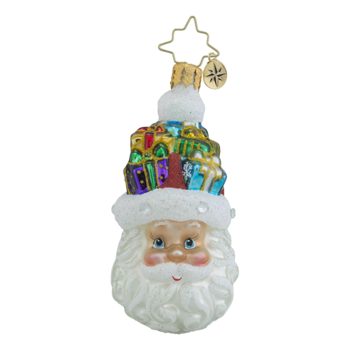 RADKO 1018352 GIFTS ON MY MIND GEM - JEWELED SANTA ORNAMENT - NEW 2016 (24)