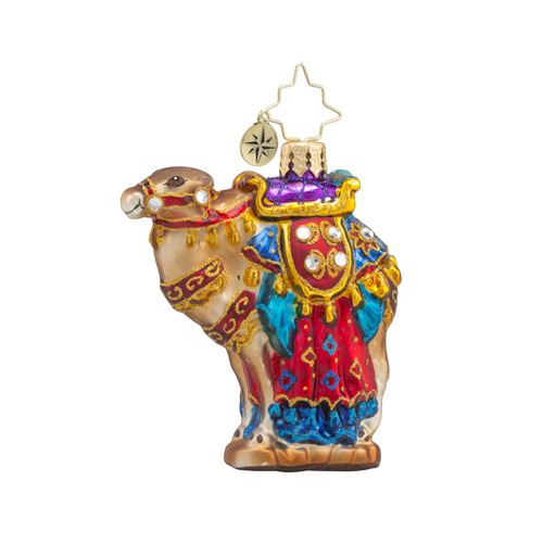 RADKO 1018361 FROM THE FAR EAST LITTLE GEM - JEWELED CAMEL ORNAMENT - NEW 2016 (24 - 1)