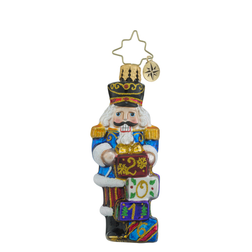 RADKO 1018366 AWAITING THE YEAR LITTLE GEM - DATED 2016 - NUTCRACKER ORNAMENT - NEW 2016 (24-1)