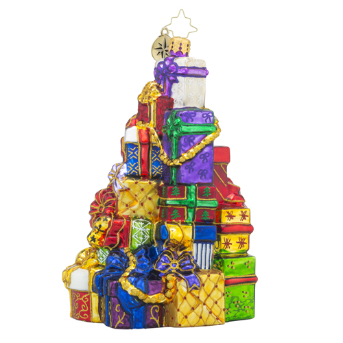 RADKO 1018387 SNAZZY STACK - STACK OF PRESENTS AND GIFTS ORNAMENT - NEW 2016 (16 - 10)