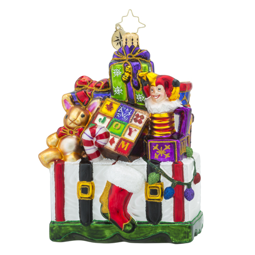 RADKO 1018396 TREASURES FOR TOTS - BOX FULL OF TOYS ORNAMENT - NEW 2016 (16 - 11)