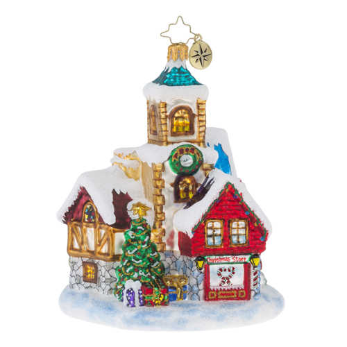 RADKO 1018399 ST NICHOLAS LANE - CHRISTMAS SHOP ORNAMENT - NEW 2016 (16 - 11)