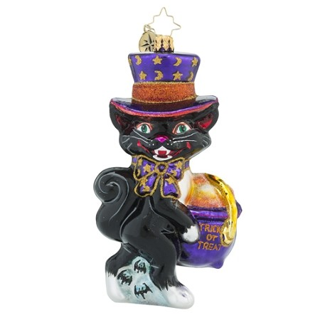 RADKO 1018406 MIDNIGHT TREATS - HALLOWEEN - BLACK CAT ORNAMENT - NEW 2016 (H7)