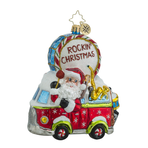 RADKO 1018413 MAKING MUSIC NICK - SANTA DRIVING VOLKSWAGEN BUS WITH MUSICAL INSTRUMENTS - NEW 2016 (16 - 11)