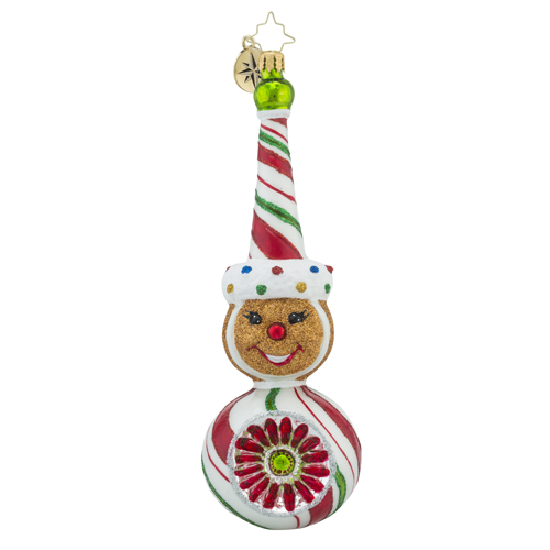 RADKO 1018450 SPARKLE SPICE - GINGERBREAD MAN WITH REFLECTOR ORNAMENT - NEW 2016 (16 - 12)