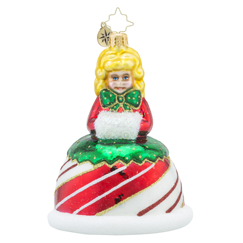 RADKO 1018453 PEPPERMINT GAL - CANDY GIRL ORNAMENT - NEW 2016 (16 - 12)