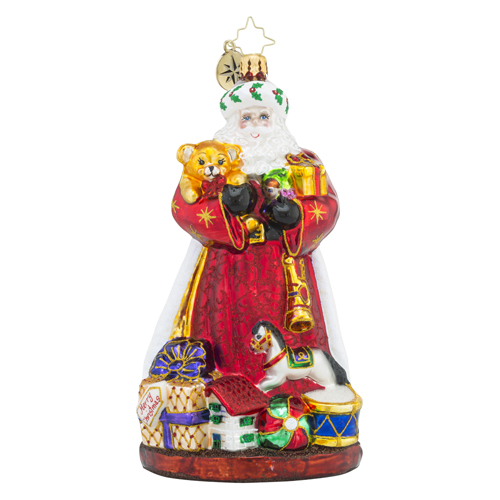 RADKO 1018469 GIFTS FOR ALL - SANTA WITH PRESENTS AND TOYS ORNAMENT - NEW 2016 (16 - 13)