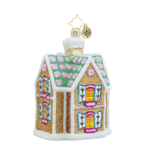 RADKO 1018474 SWEET SENSATION - GINGERBREAD HOUSE ORNAMENT - NEW 2016 (16 - 13)