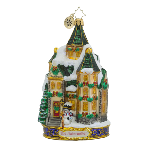 RADKO 1018579 STAHLBAUM HOME - THE NUTCRACKER SUITE SERIES - SNOW COVERED HOUSE ORNAMENT - NEW 2016 (16-1)