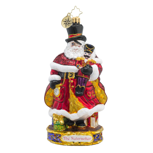 RADKO 1018580 HERE COMES DROSSELMEYER - THE NUTCRACKER SUITE SERIES - DROSSELMEYER AND THE NUTCRACKER ORNAMENT - NEW 2016 (16-1)