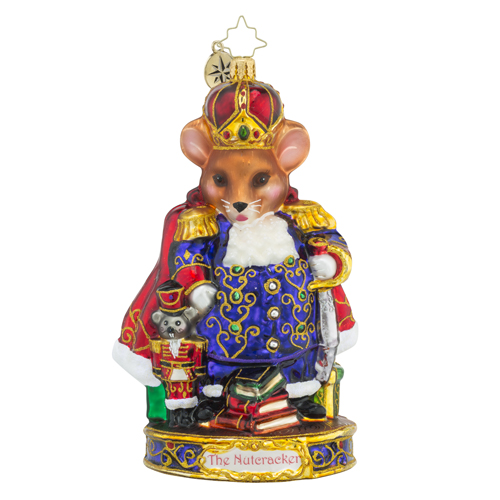 RADKO 1018583 MOUSE KING - THE NUTCRACKER SUITE SERIES - THE MOUSE KING ORNAMENT - NEW 2016 (16-1)