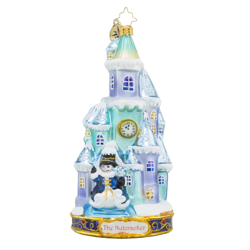 RADKO 1018586 THE LAND OF SNOW - THE NUTCRACKER SUITE SERIES - SNOW COVERED HOUSE ORNAMENT - NEW 2016 (16-1)