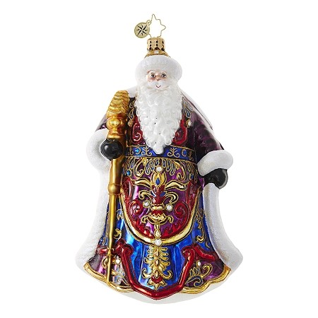 RADKO 1018668 SANTA'S CHRISTMAS CAPE - JEWELED SANTA WITH ORNATE CAPE ORNAMENT - NEW 2017 (17-6)