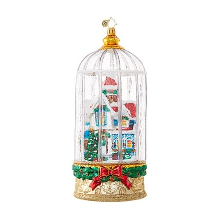 RADKO 1018693 SNOWY VICTORIAN CAGE - LIMITED EDITION OF 914 - HOUSE IN DOME ORNAMENT - NEW 2017 (17-2)