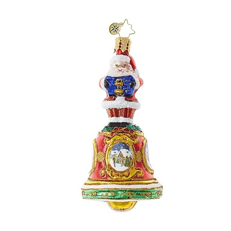 RADKO 1018741 BELLS WILL BE RINGING GEM - SANTA ON BELL ORNAMENT - NEW 2017 (25)