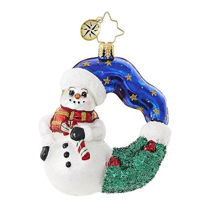 RADKO 1018745 COOL CHAPLET GEM - SNOWMAN WREATH - NEW 2017 (25)