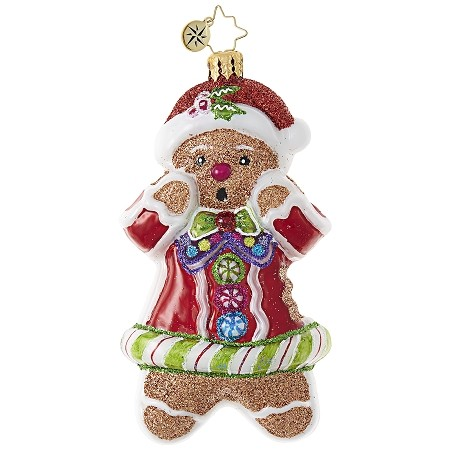 RADKO 1018793 JUST ONE BITE! - GINGERBREAD MAN COOKIE ORNAMENT - NEW 2017 (17-8)