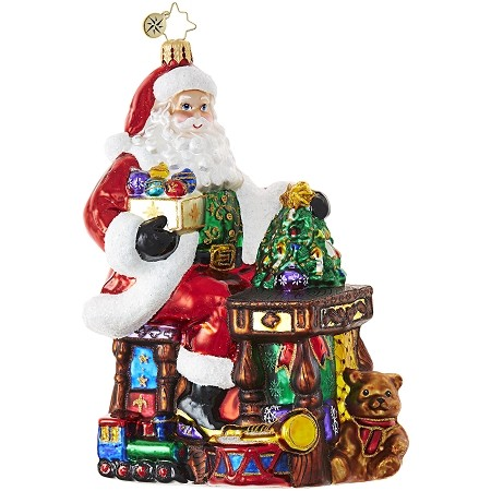RADKO 1018853 SANTA'S TOY WORKSHOP - SANTA MAKING TOYS ORNAMENT - NEW 2017 (17-10)