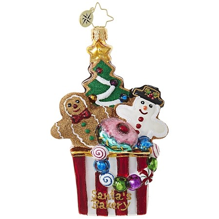 RADKO 1018912 CHRISTMAS COOKIE COMFORT - BOX FULL OF GINGERBREAD COOKIES AND CANDY ORNAMENT - NEW 2017 (17-12)