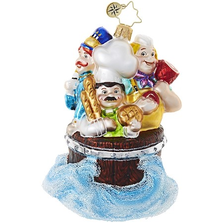 RADKO 1018975 SCRUB A DUB DUB! - MOTHER GOOSE - CHILDREN - THREE MEN IN A TUB ORNAMENT - NEW 2017 (17-14)