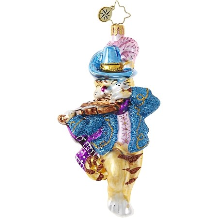 RADKO 1018977 DIG THAT CAT'S FIDDLE! - MOTHER GOOSE - CHILDREN - CAT AND A FIDDLE ORNAMENT - NEW 2017 (17-14)