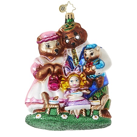RADKO 1018978 SHE CAN'T BEAR TO EAT ALONE - CHILDREN - GOLDILOCKS AND THE THREE BEARS ORNAMENT - NEW 2017 (17-14)