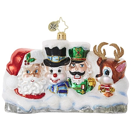 RADKO 1019023 THIS ABOUT COVERS IT - SANTA - SNOWMAN - NUTCRACKER - RUDOLPH - MT RUSHMORE ORNAMENT - NEW 2017 (17-15)