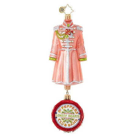 RADKO 1019031 GEORGE HARRISON'S SGT. PEPPER'S COAT - BEATLES COLLECTION - COAT WITH DRUM DANGLE ORNAMENT - NEW 2017 (17-5)