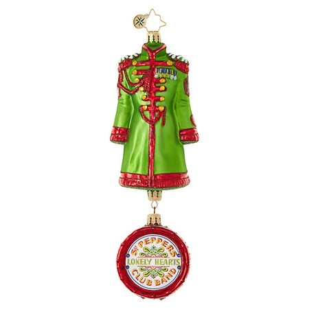 RADKO 1019032 JOHN LENNON'S SGT. PEPPER'S COAT - BEATLES COLLECTION - COAT WITH DRUM DANGLE ORNAMENT - NEW 2017 (17-5)