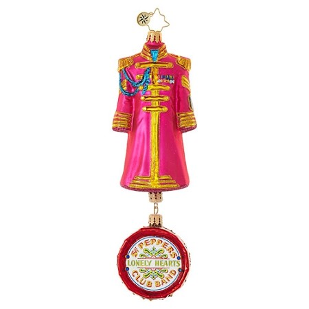 RADKO 1019034 RINGO STARR'S SGT. PEPPER'S COAT - BEATLES COLLECTION - COAT WITH DRUM DANGLE ORNAMENT - NEW 2017 (17-5)