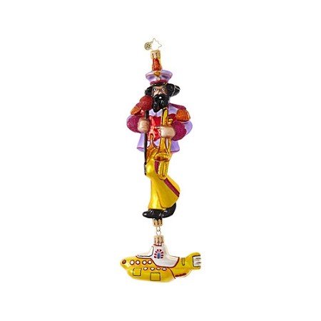 RADKO 1019037 YELLOW SUBMARINE JOHN - BEATLES COLLECTION - JOHN WITH YELLOW SUBMARINE DANGLE ORNAMENT - NEW 2017 (17-5)