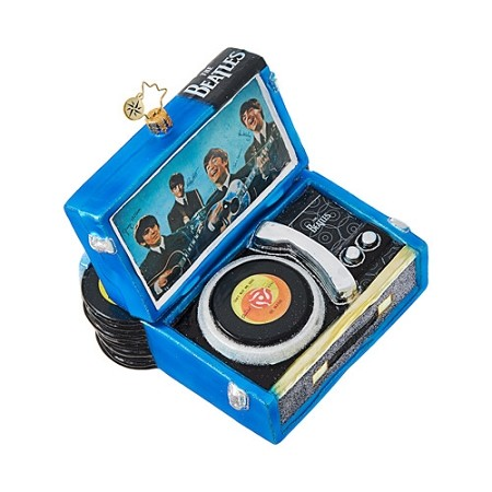 RADKO 1019044 BEATLES RECORD PLAYER - BEATLES COLLECTION - RECORD PLAYER ORNAMENT - DOES NOT FIT IN A RADKO GIFT BOX - COMES IN A WHITE GIFT BOX - NEW 2017 (17-5)