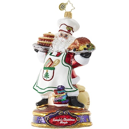 RADKO 1019080 COOKING WITH KRINGLE - KRINGLE'S CHRISTMAS MINGLE - CHEF SANTA COOKING DINNER ORNAMENT - NEW 2017 (17-1)