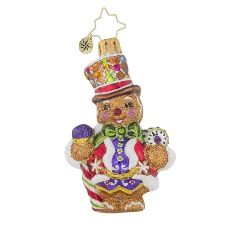 RADKO 1019124 RIGHT ON TIME GINGER GEM - GINGERBREAD MAN ORNAMENT - NEW 2017 (25-1)