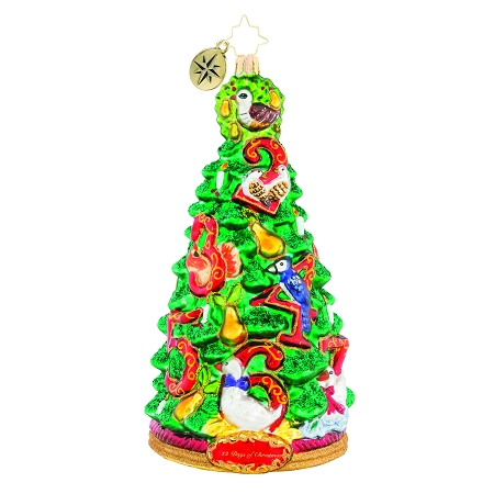 RADKO 1019141 PEAR TREE PROMISES - 12 DAYS OF CHRISTMAS - TREE ORNAMENT - NEW 2018 (68-1)